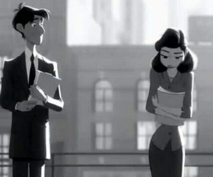 love, paperman, and disney image