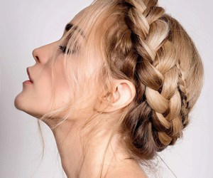 braids, hair inspiration, and milkmaid braid image