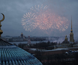 fireworks, city, and travel image