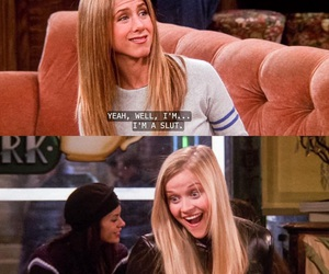 blonde, F.R.I.E.N.D.S., and funny image