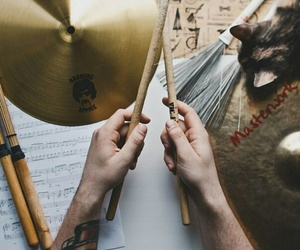 hands, music, and drums image