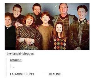 harry potter, ed sheeran, and funny image