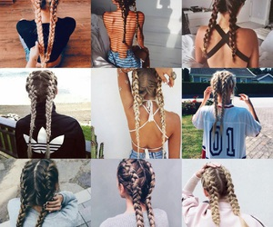 braid, braids, and pretty image