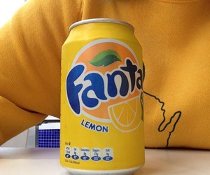 yellow, fanta, and aesthetic image
