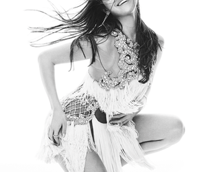 beauty, black and white, and dress image