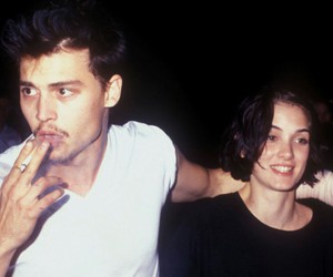 johnny depp, couple, and grunge image