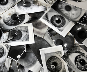 eyes, photography, and black and white image