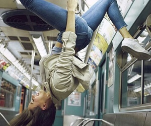 girl and subway image