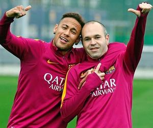 Barca, football, and neymar jr image