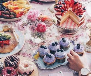 food, cake, and cupcakes image