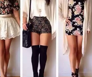 skirt, dress, and flowers image