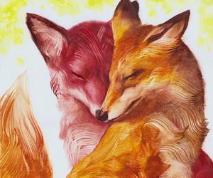 fox, art, and love image