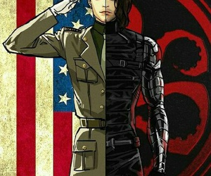 bucky, winter soldier, and bucky barnes image