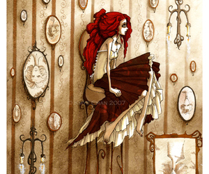 girl, illustration, and corset image