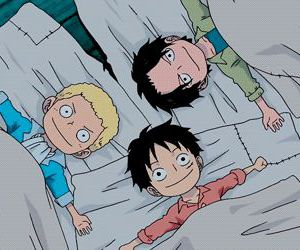 ace and luffy e sabo. image