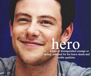 glee, cory monteith, and hero image