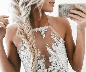 fashion, hair, and white image
