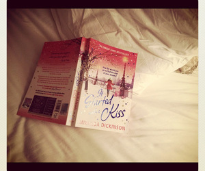 bed, book, and kiss image