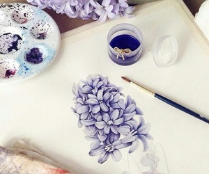 flowers, art, and purple image