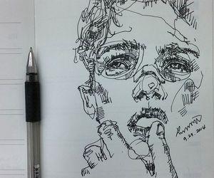 art, drawing, and boy image