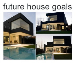 goals, house, and black image
