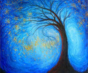 blue, tree, and life image
