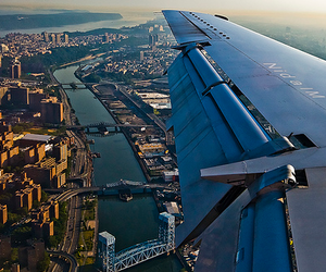 city, beautiful, and airplane image