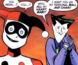 harley quinn, joker, and dc comics image