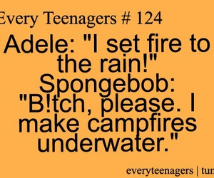 Adele, spongebob, and laugh image