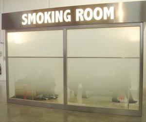 smoke, room, and smoking image