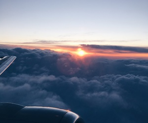 clouds, flight, and Flying image