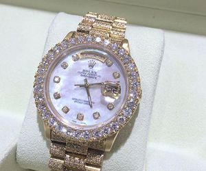 diamonds, luxury, and rolex image