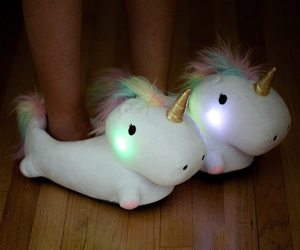 unicorn, slippers, and light image