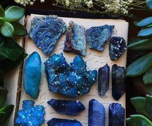 blue, crystal, and stone image