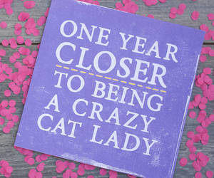 birthday, crazy, and card image