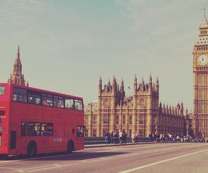 london, Big Ben, and bus image