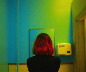 grunge, red hair, and green image