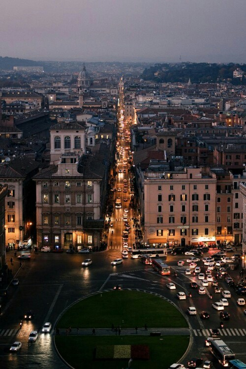 city, italy, and lights image