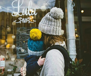 cold, walk, and child image