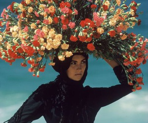 flowers, photography, and woman image