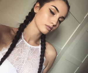 artist, braids, and french image