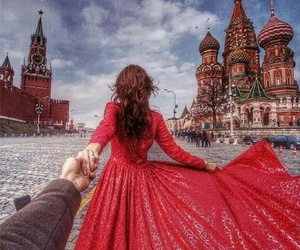 couple, moscow, and dress image