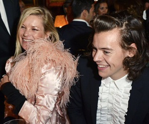 Harry Styles, kate moss, and one direction image
