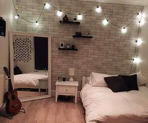 room, bedroom, and light image