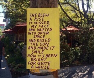 yellow, quotes, and kiss image