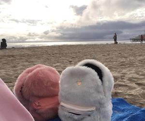 beach, pink, and bag image