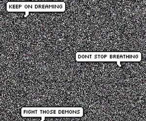 band, afraid, and demons image