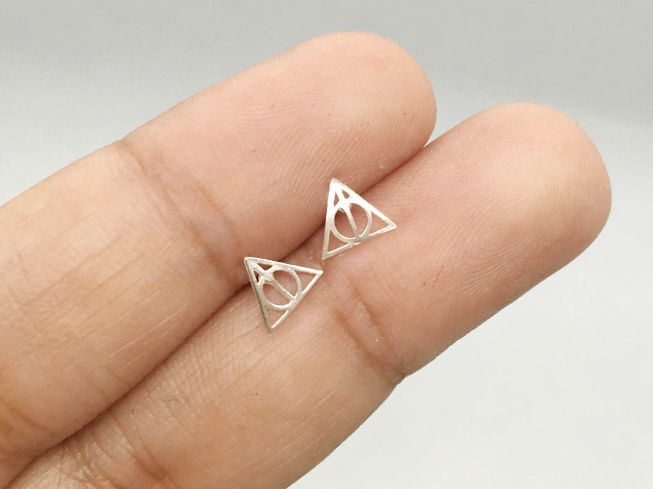 Official Harry Potter Deathly Hallows Sterling Silver Earrings New