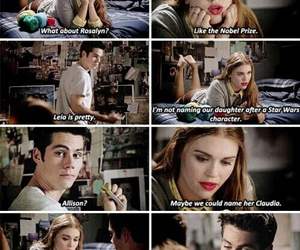 lydia, stiles, and tv show image
