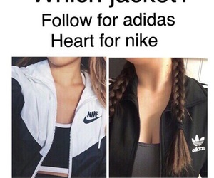 nike, adidas, and follow image